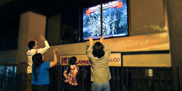 Snow In Makati Live Interactive Augmented Reality Wall