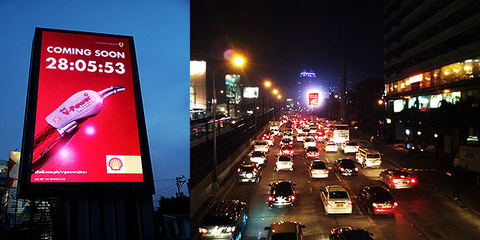 Shell V-Power Nitro+ LED Billboard