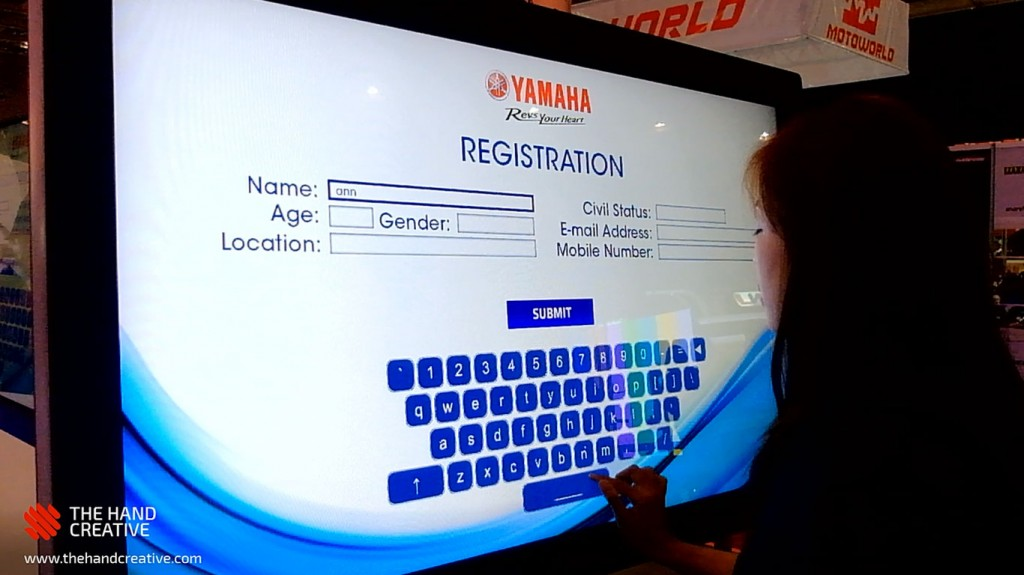 Yamaha Touchscreen Survey The Hand Creative